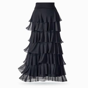 The Pyramid Collection Maxi Skirt Tiered Mesh